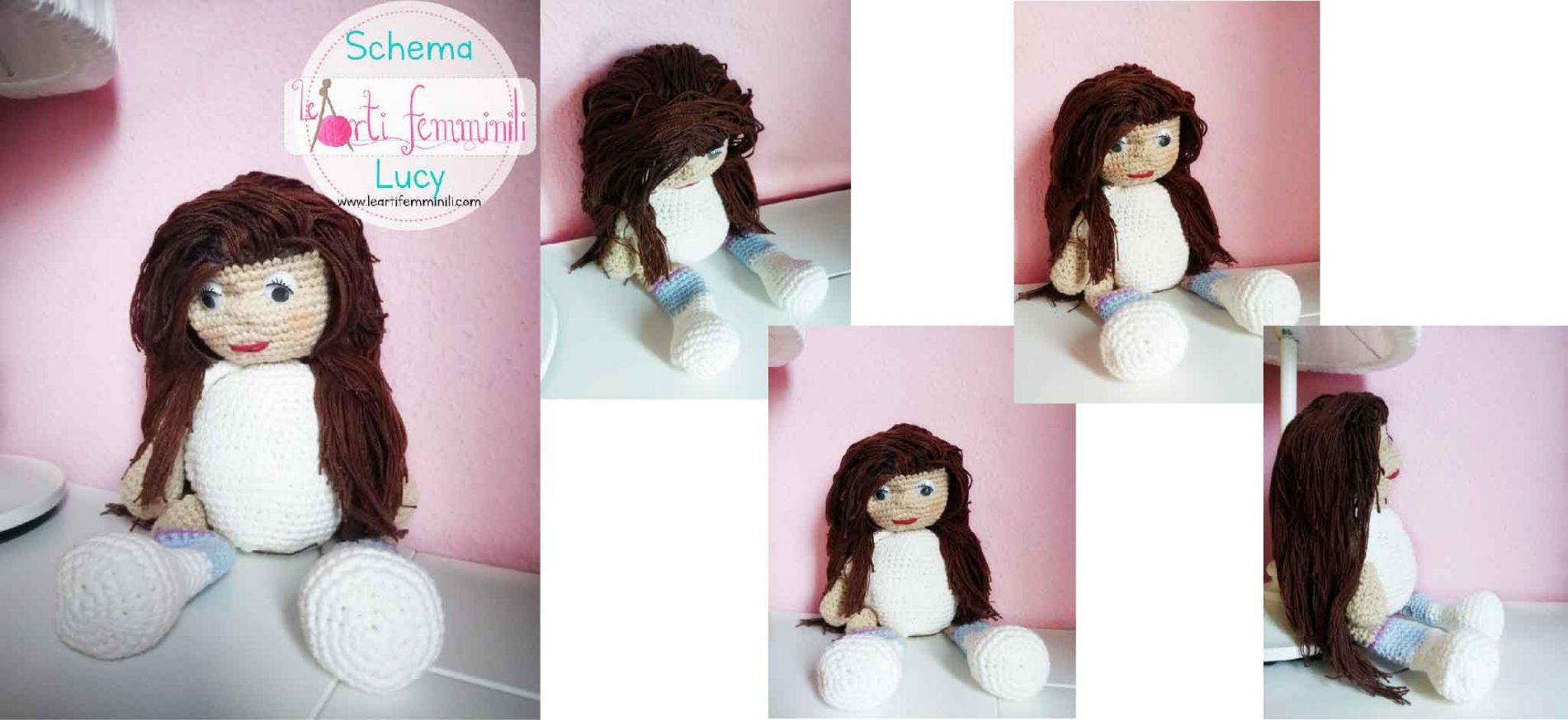 Bambola all'uncinetto Amigurumi