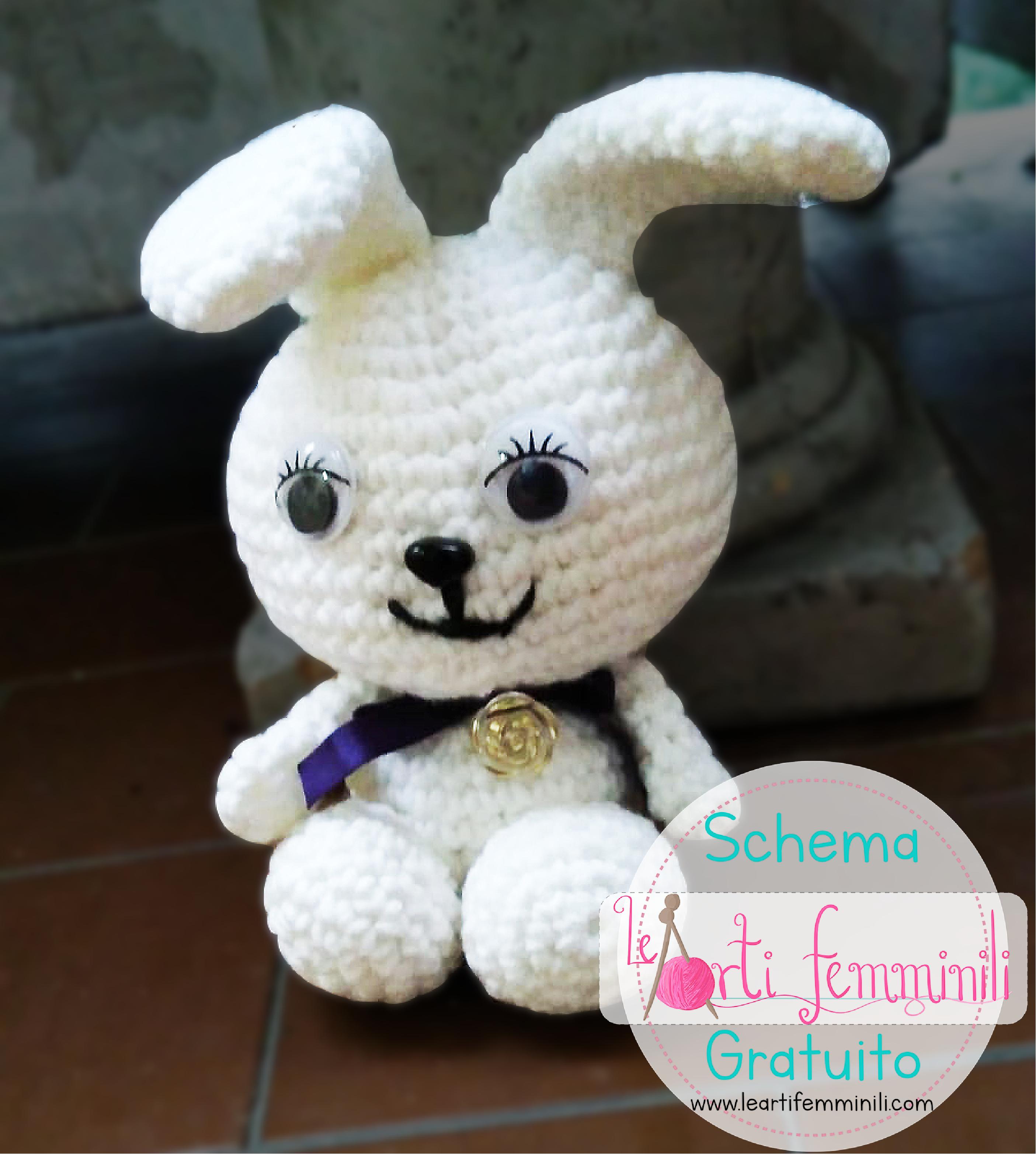Coniglietto Amigurumi Alluncinetto Tutorial Schema