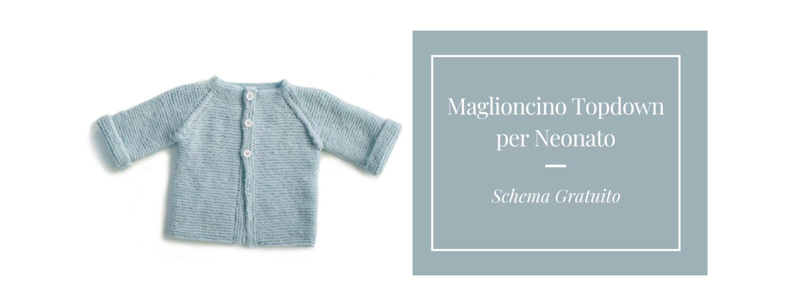 Maglioncino ai ferri per neonato