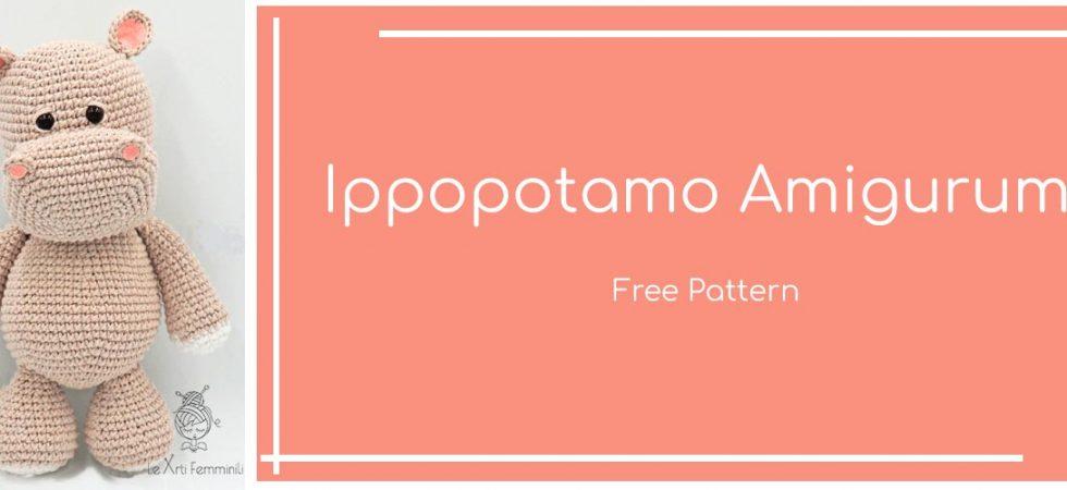 Ippopotamo amigurumi free pattern