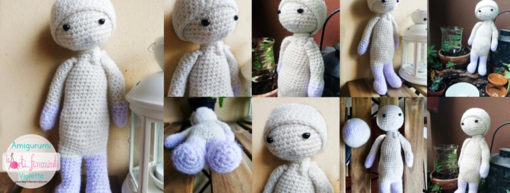 Bambola Violetta all'uncinetto amigurumi schema gratuito